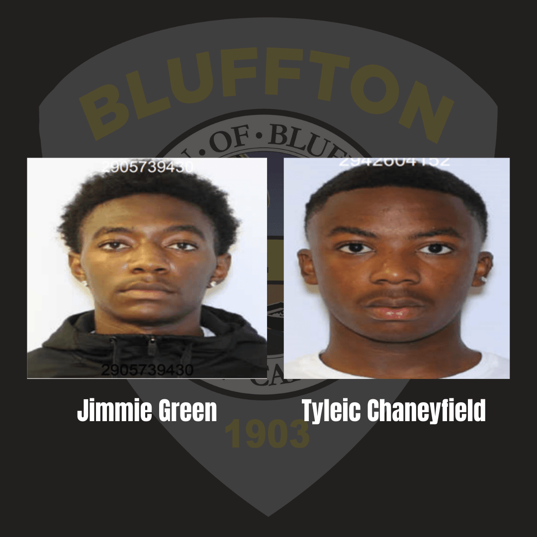 mugshots of murder suspects: Jimmie Green, Tyleic Chaneyfield