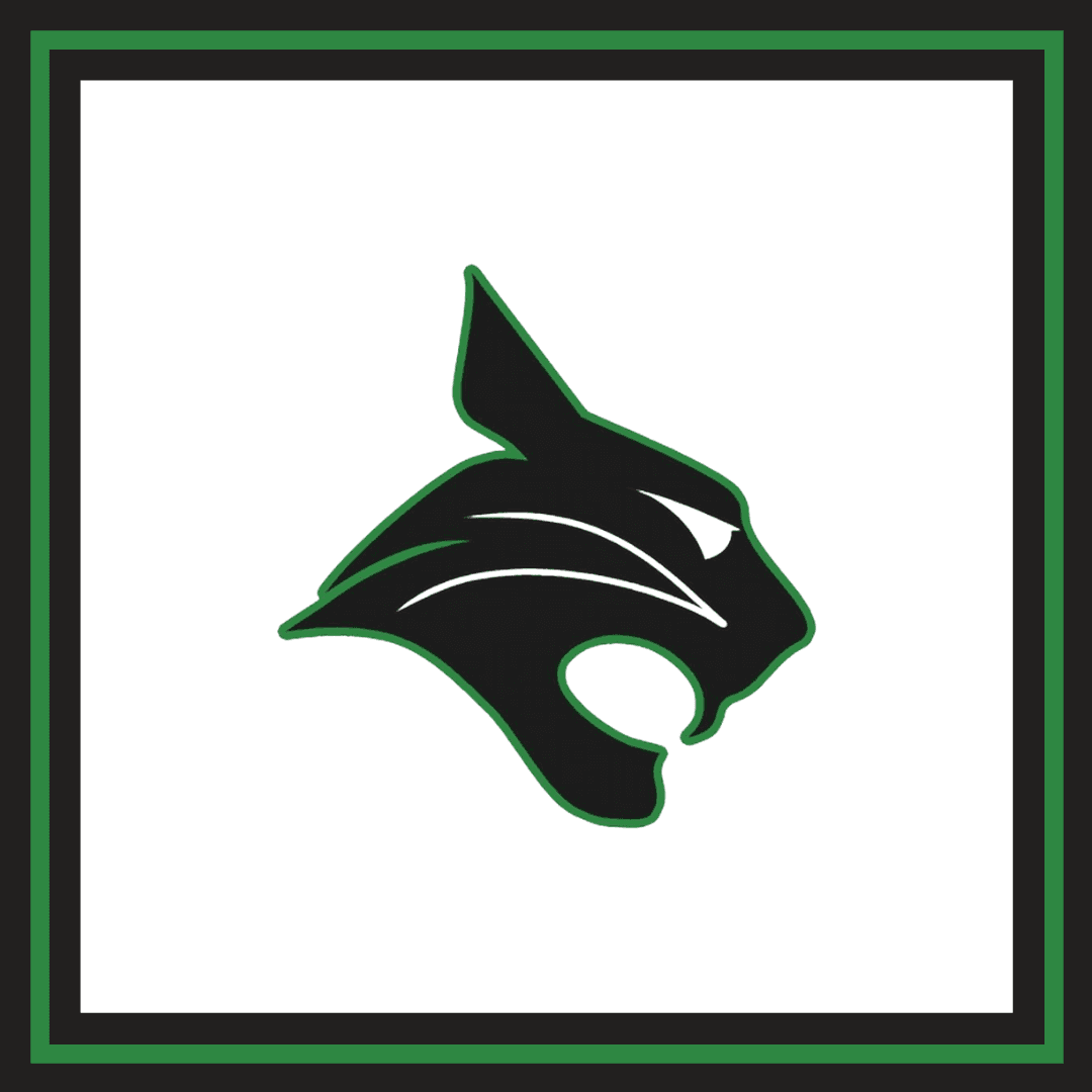 Bluffton High School bobcat graphic